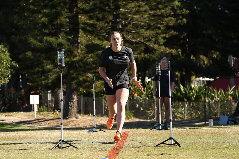 Kirra Dibb at Jillaroos training camp.