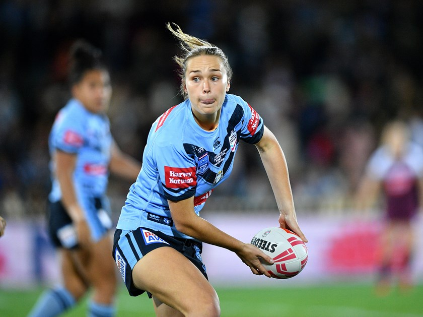 NSW Blues five-eighth Kirra Dibb.