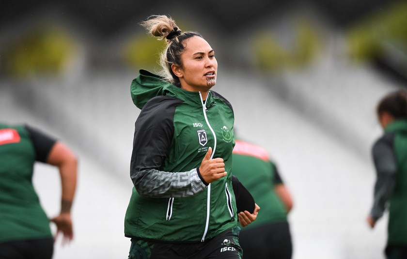 Hilda Mariu in training with the New Zealand Māori Ferns.