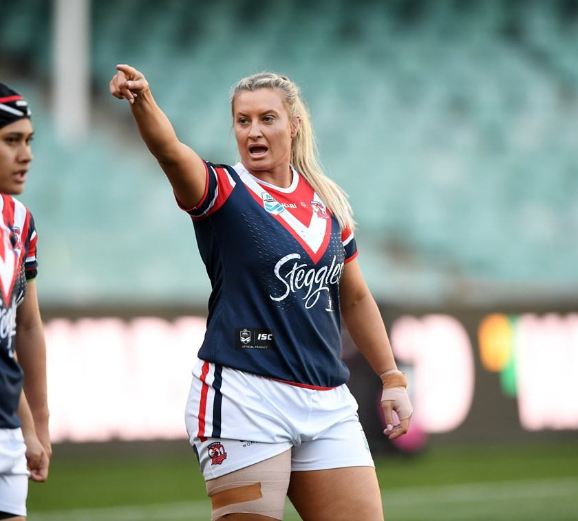 Ruan Sims joined the Roosters for the inaugural NRLW season in 2018.