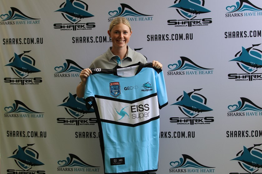 Maddie Studdon will turn out for the Sharks in 2019.