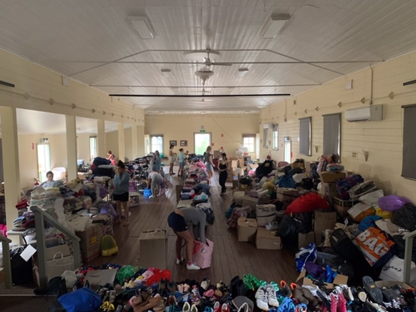 The Cobargo Town Hall is being used to help fire victims.