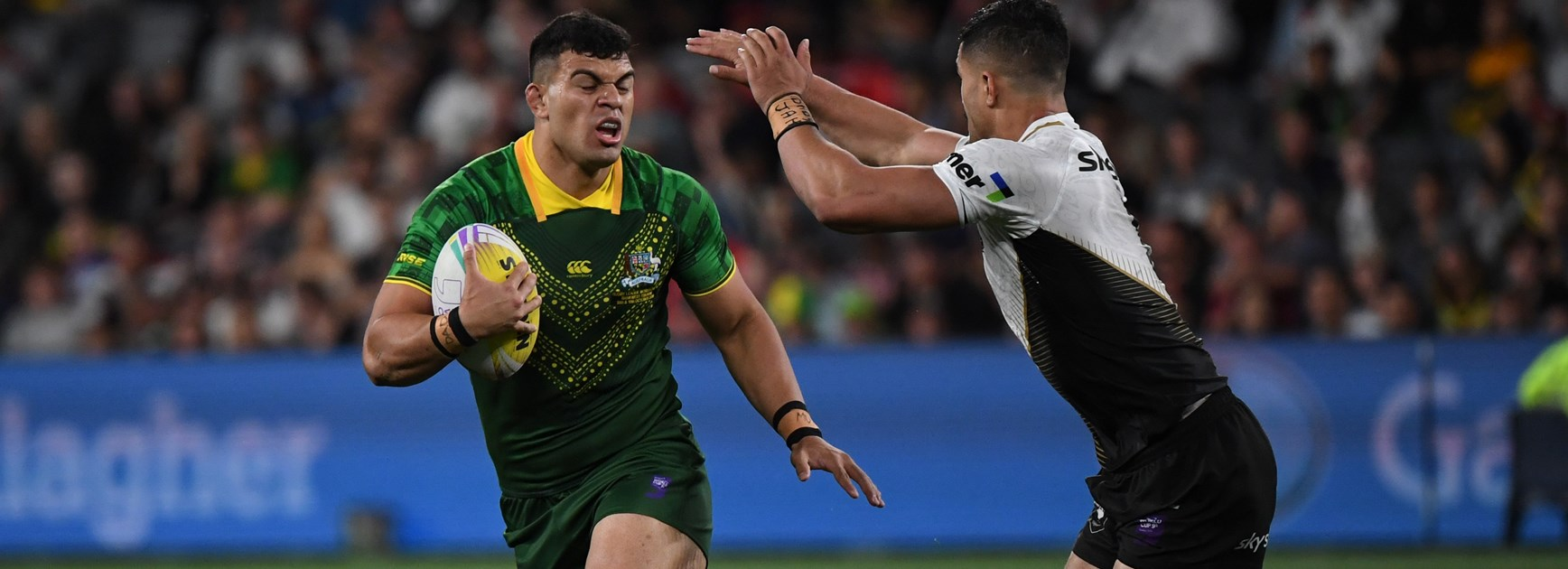 David Fifita on the charge for Australia at the World 9s.