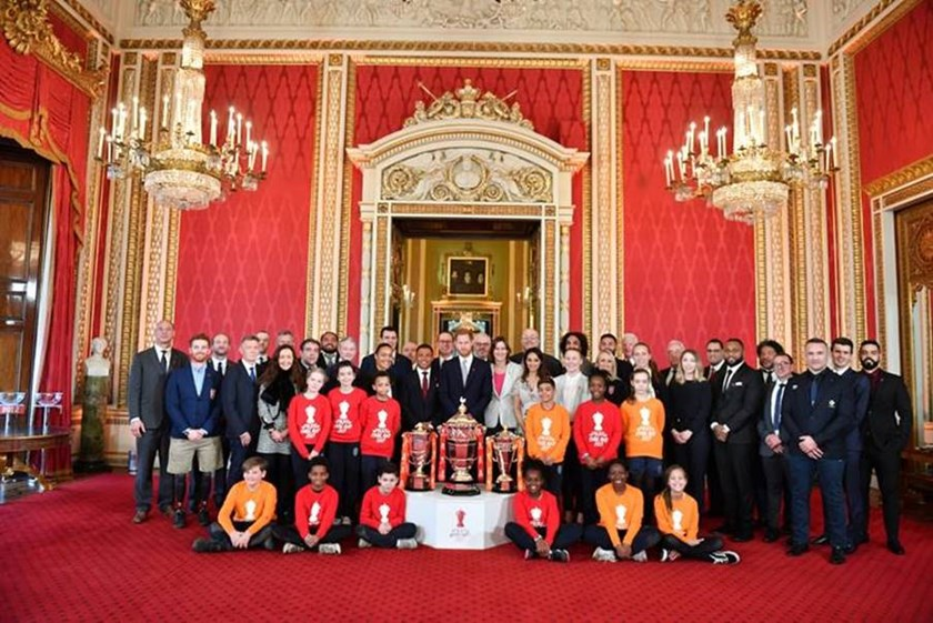 The World Cup draw at Buckingham Palace.