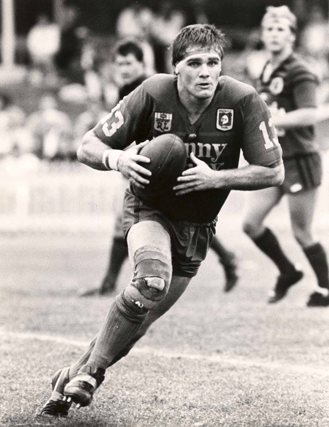 Tony Butterfield at the Knights in their foundation year of 1988.