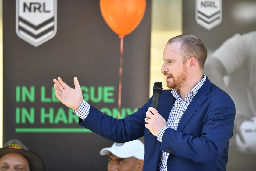NRL head of government and community relations Jaymes Boland-Rudder.