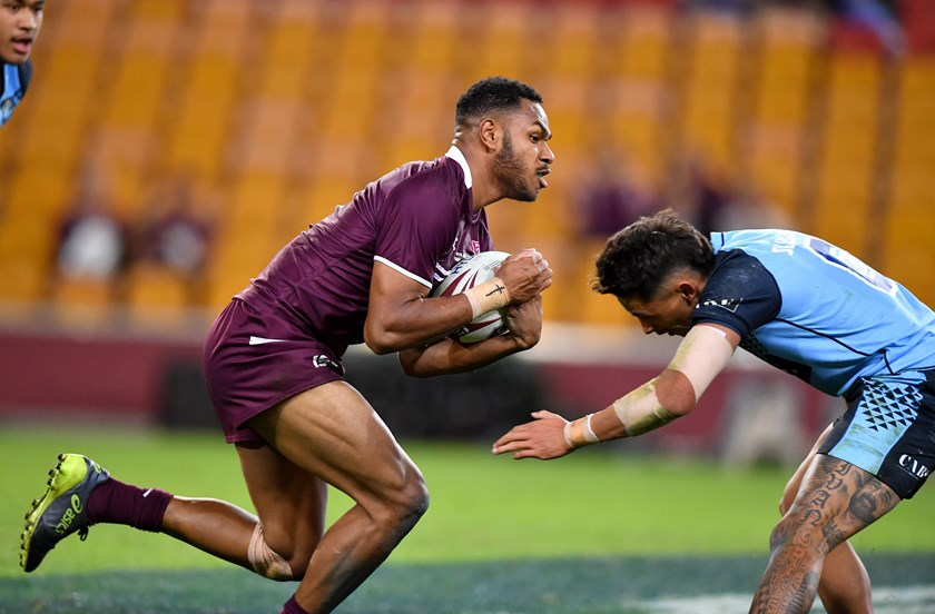 Hamiso Tabuai-Fidow in action for the Queensland under-18 side.