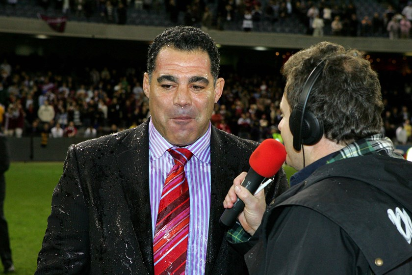 Mal Meninga after winning his first State of Origin series as a coach in 2006.