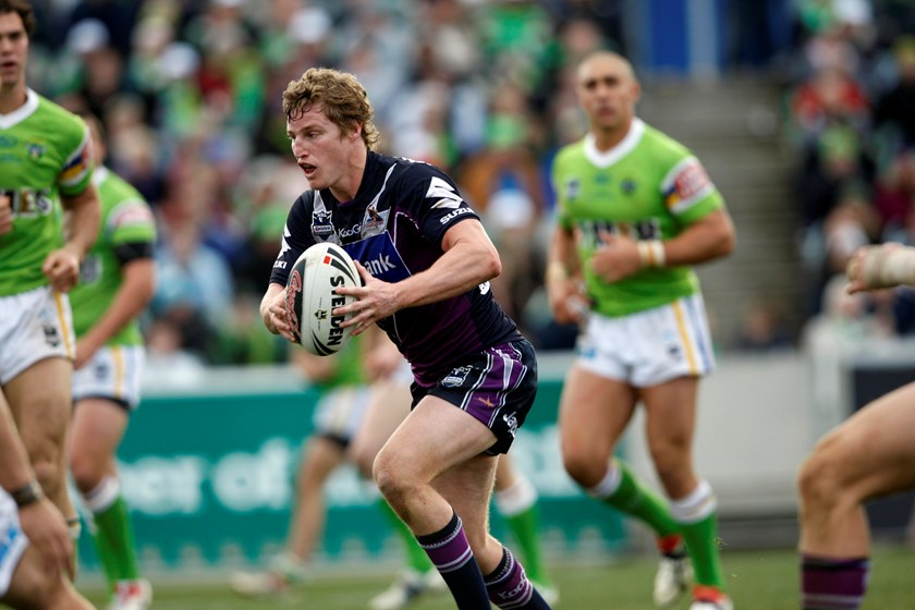 Brett Finch after his switch to the Storm in 2009.
