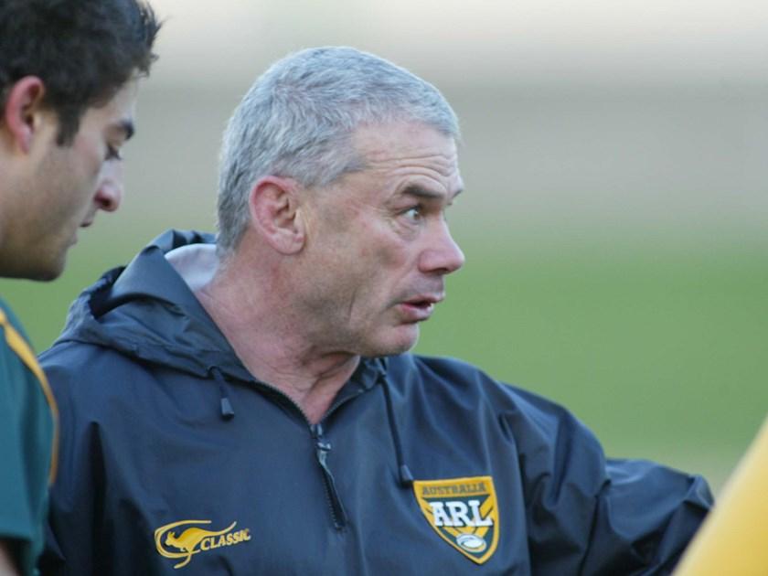 Anderson while coach of Australia.