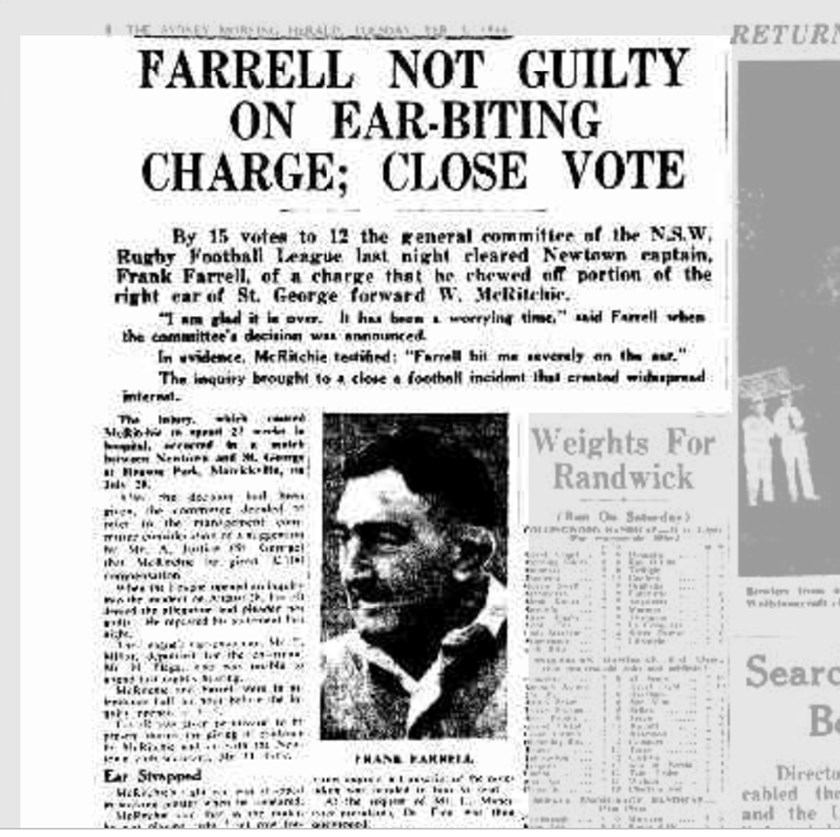 How the Sydney Morning Herald reported on the Farrell incident.