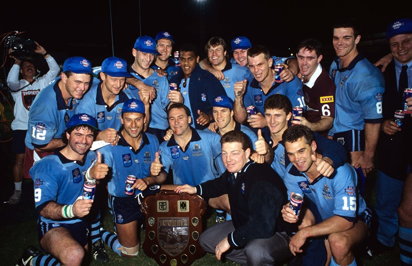 The Blues after winning the 1994 series 2-1, beating Queensland in the decider at Lang Park.