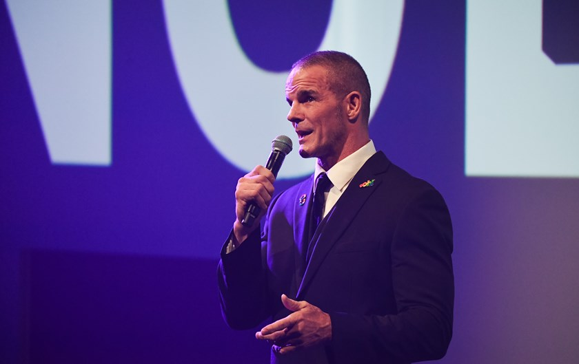 Ian Roberts at the 2020 NRL season launch.