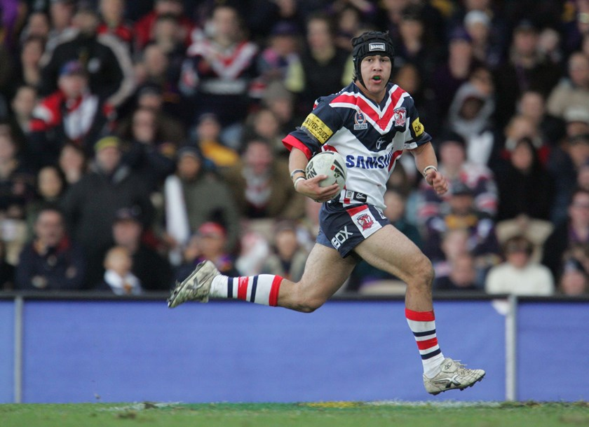 Soward sprints away during his rookie year in 2005.