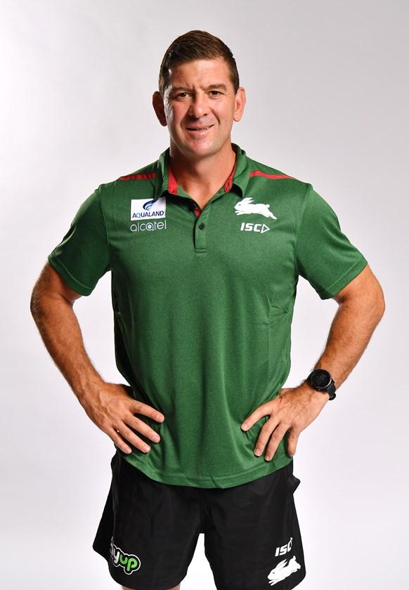 South Sydney assistant coach Jason Demetriou.