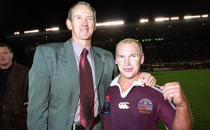 Wayne Bennett and Allan Langer after Game III of the 2001 series.