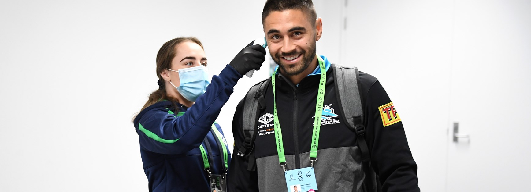 Sharks five-eighth Shaun Johnson.