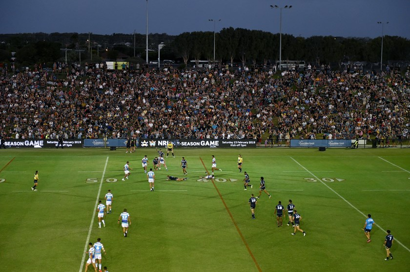 The Titans and Cowboys played a pre-season trial at Sunshine Coast Stadium in 2019.