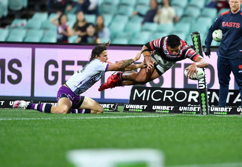 Christian Tuipulotu dives over on debut.