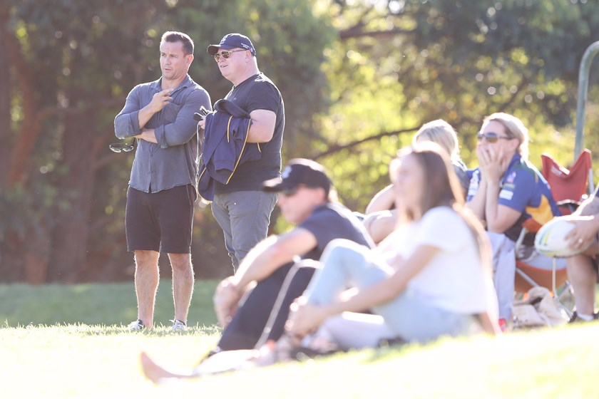 Matty Johns likes to watch from afar and leave his sons' development to their coaches.
