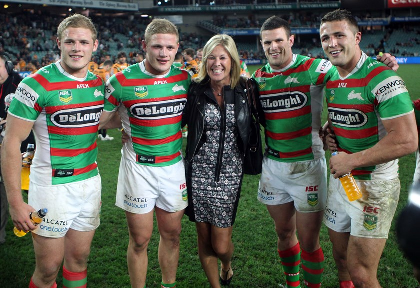 The Burgess brothers and mother Julie.