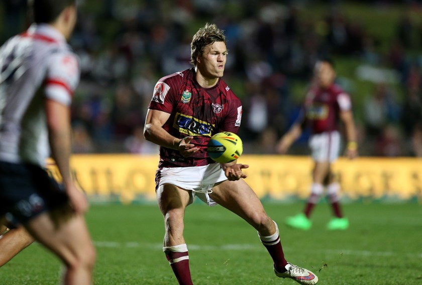 Liam Knight in action for Manly's NYC side in 2015.