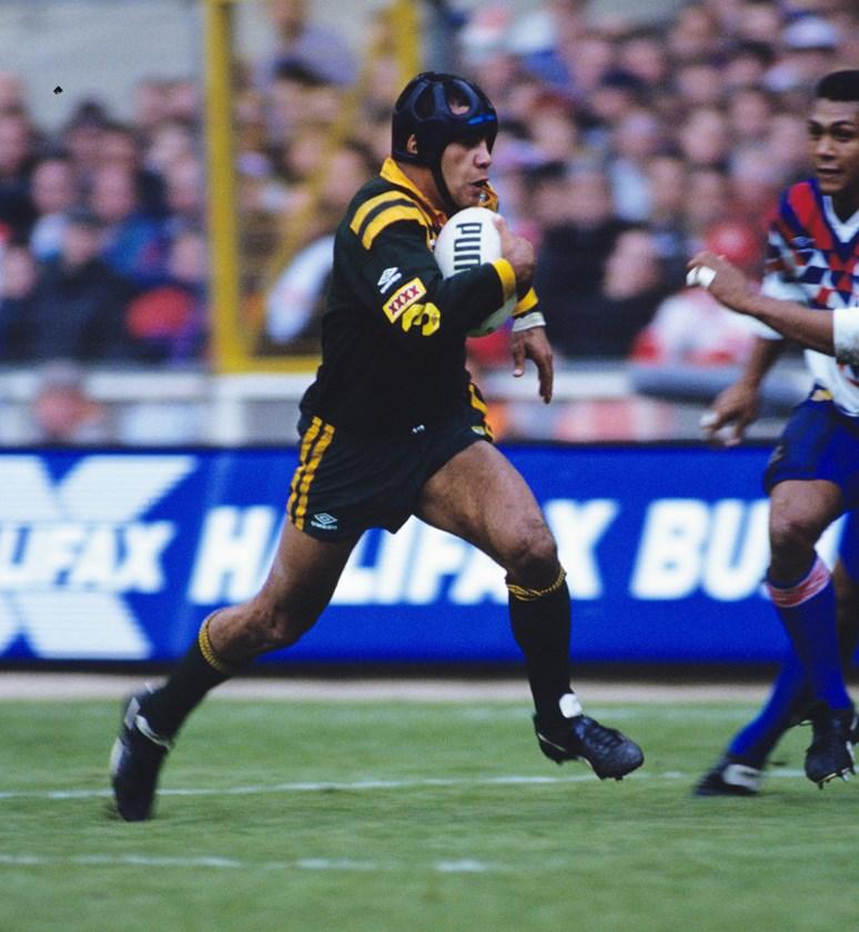 Steve Renouf representing Australia in 1992.