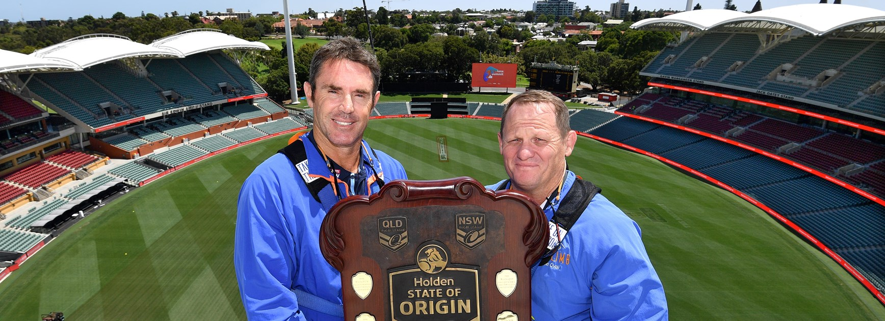 Brad Fittler and Kevin Walters in Adelaide.