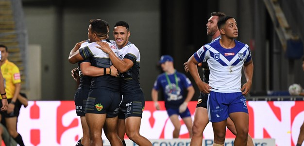 Taumalolo leads Cowboys past Bulldogs as NRL's silent era begins