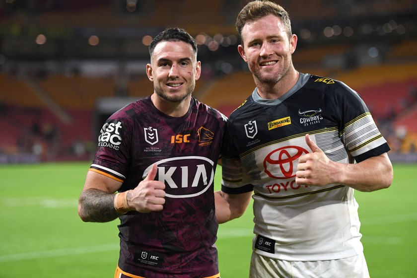 Retired pair Darius Boyd and Gavin Cooper.
