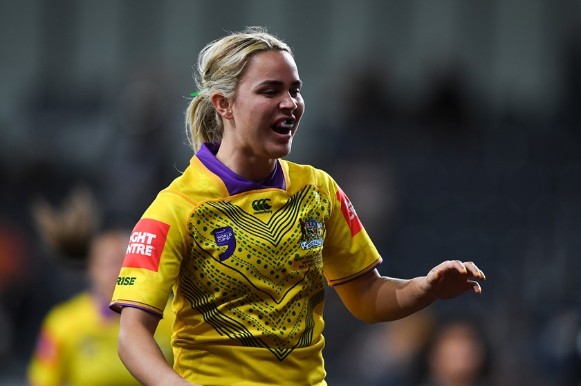 Bo Vette-Welsh in action for the Jillaroos at the World Nines.