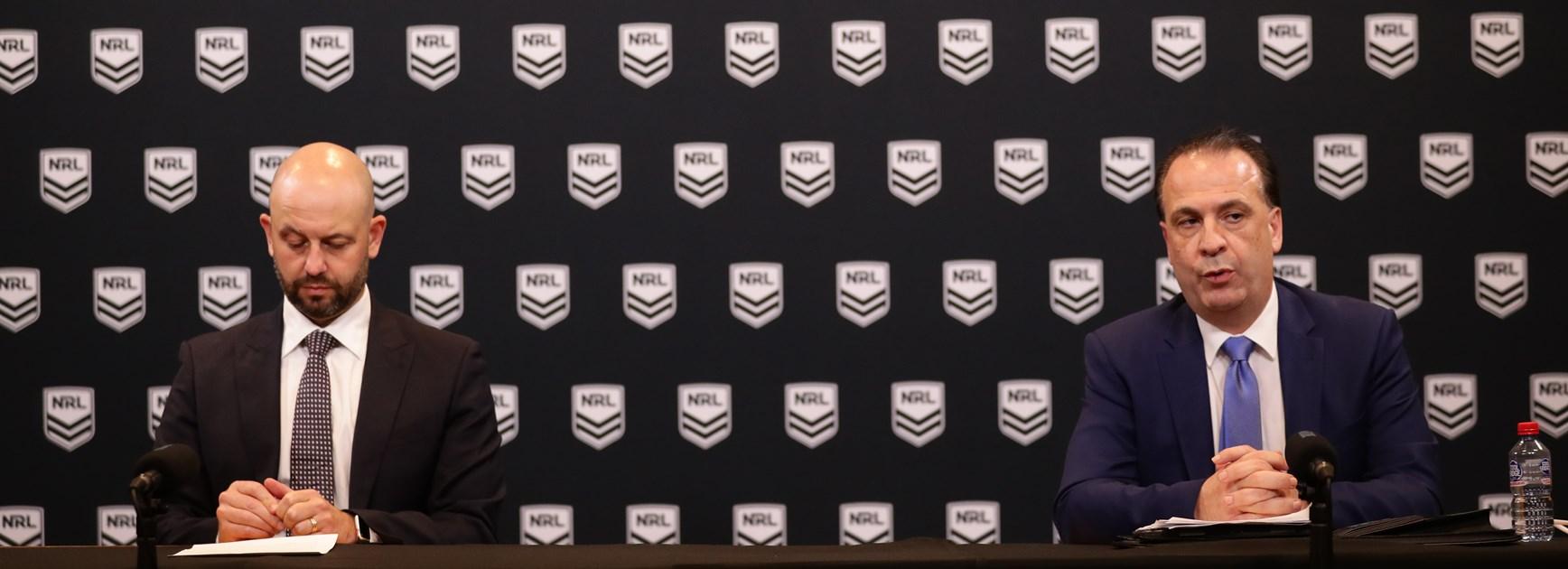 NRL season suspended: Greenberg, V'landys statements