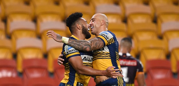 Eels bust Broncos as footy returns with a bang