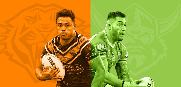 Wests Tigers v Raiders: Benji dropped; Wighton on light duties
