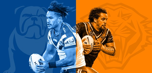 Bulldogs v Wests Tigers: Holland starts; key Tigers trio out