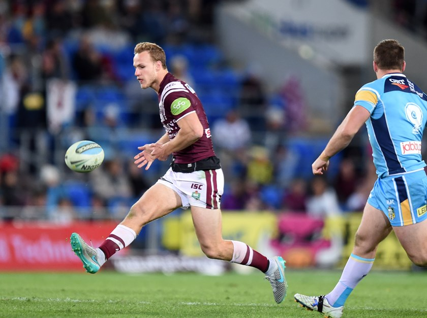 DCE in action against the Gold Coast later in the 2015 season after choosing to stay at Manly.