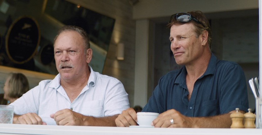 Sea Eagles great Cliff Lyon and Sharks icon Andrew Ettingshausen.