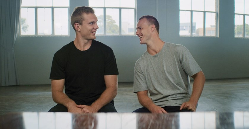 Sea Eagles Tom Trbojevic and Daly Cherry-Evans.