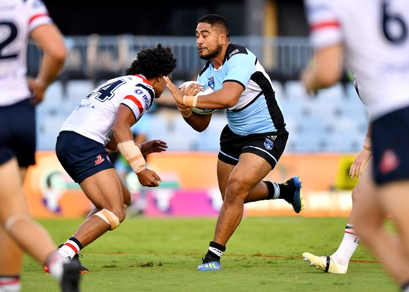 Sharks prop Fine Kula in his playing days.