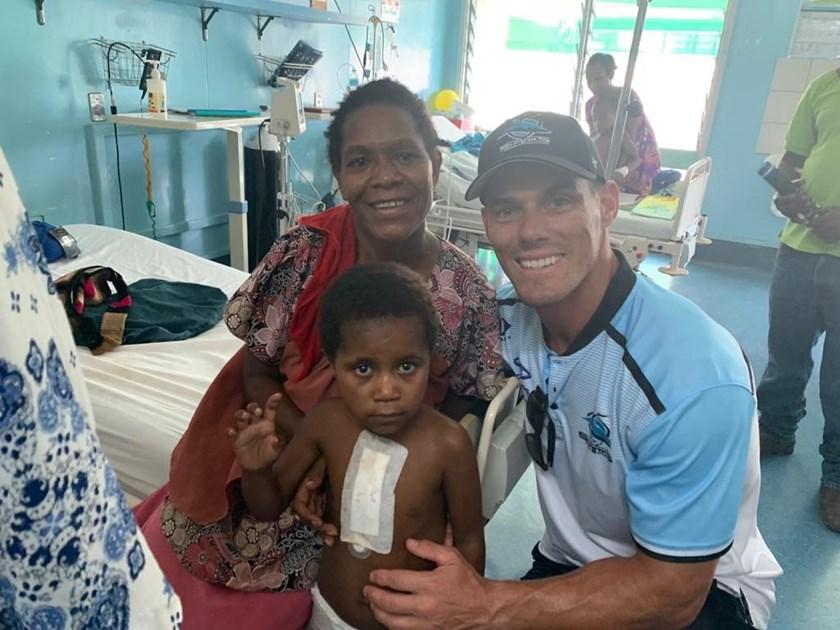 Sharks coach John Morris in Papua New Guinea.