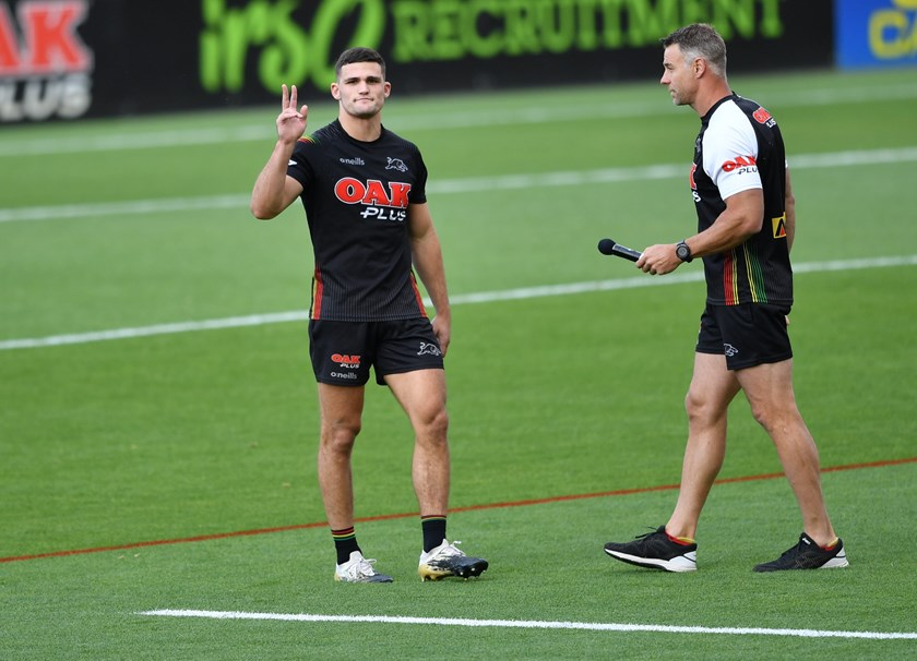 Nathan Cleary at Panthers training.