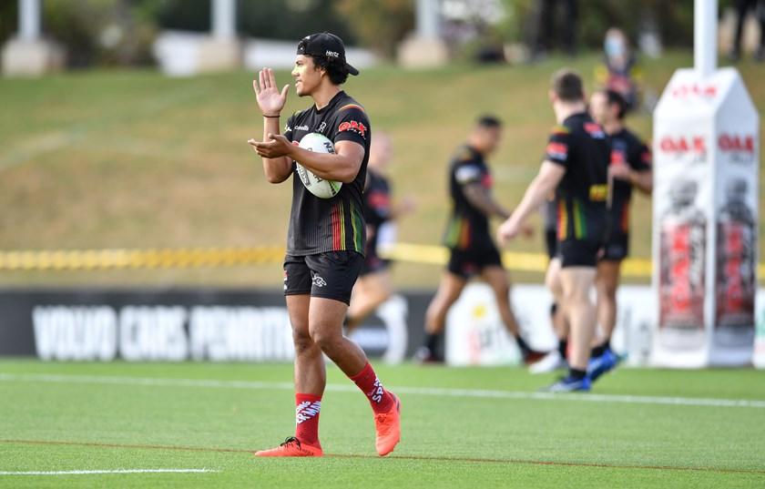 Panthers five-eighth Jarome Luai.