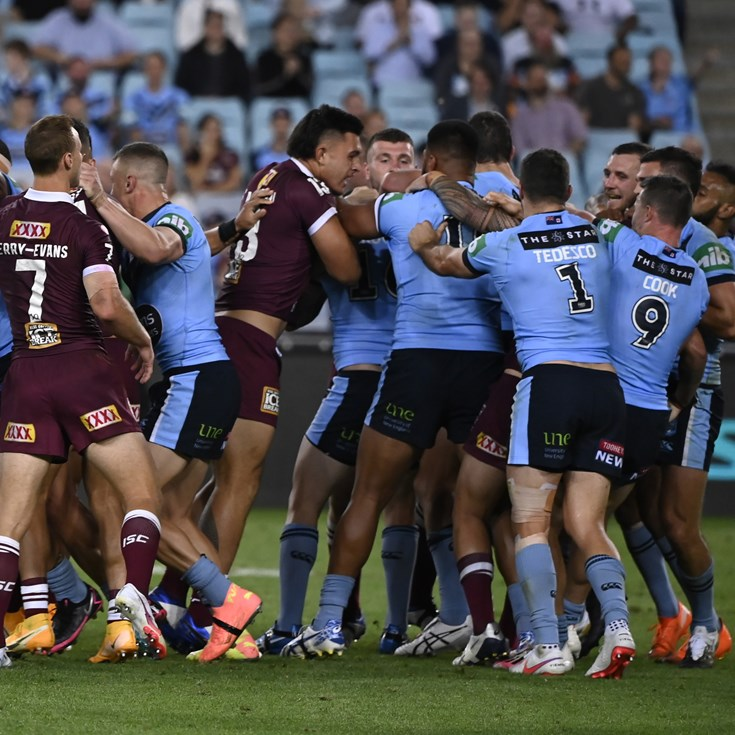 Fa'asuamaleaui, Haas charged after Origin melee