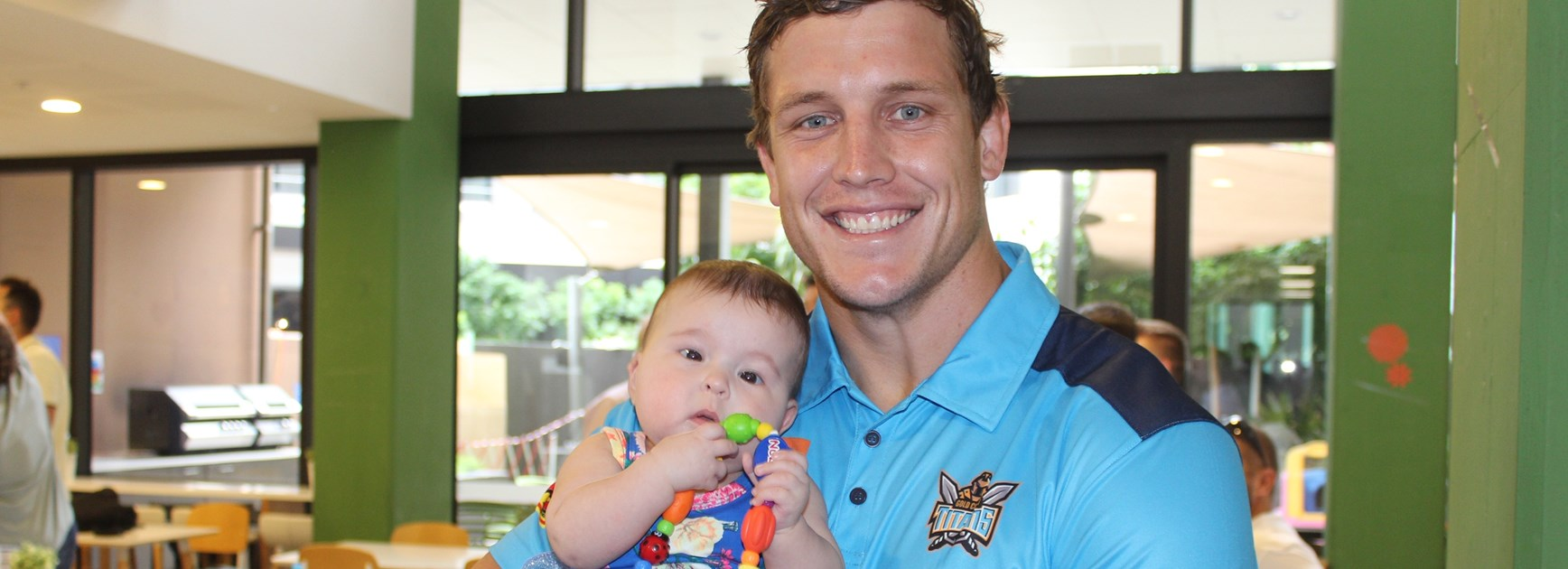 Charity work hits home for tough Titan