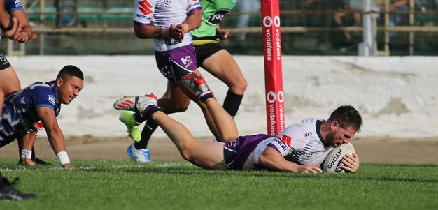 Lewis strikes late for Storm to beat Warriors