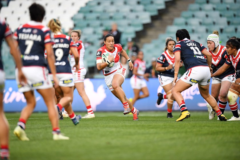 Honey Hireme-Smiler during her NRLW stint with the Dragons in 2018.