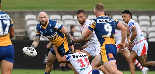 Eels dominate Dragons trial as young backs shine