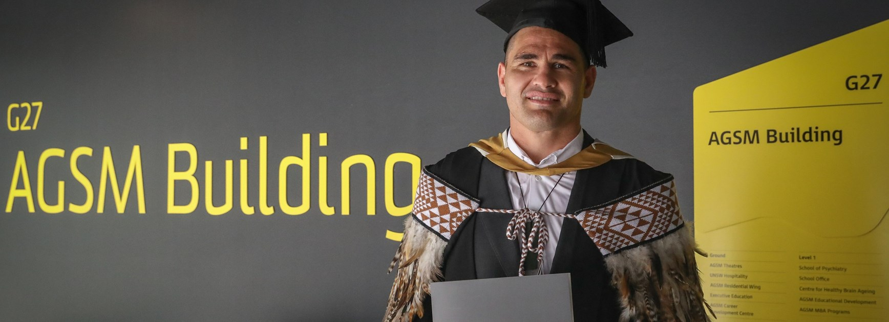 Russell Packer with his MBA.