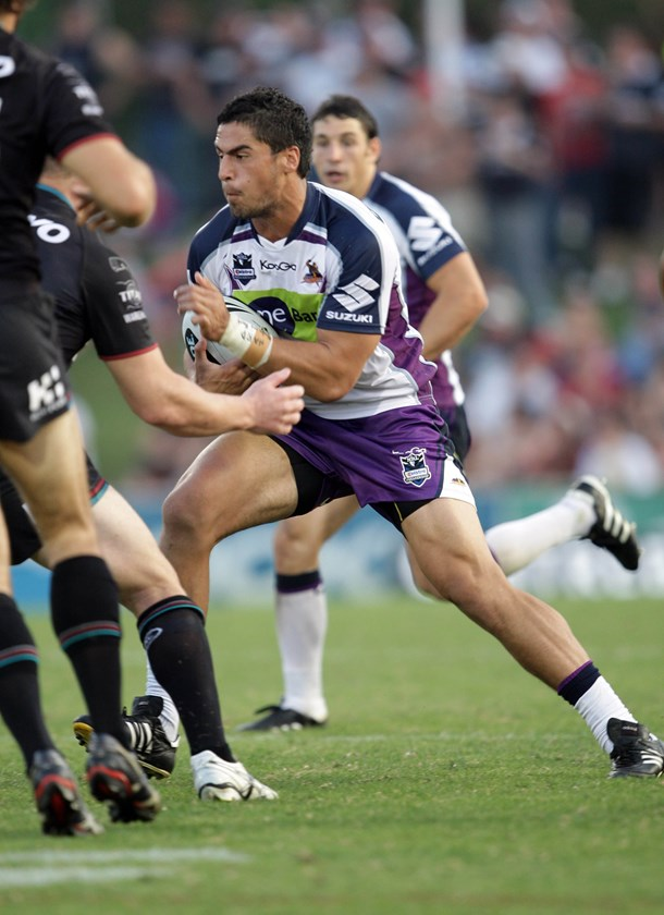 Jesse Bromwich during his rookie season in 2010.