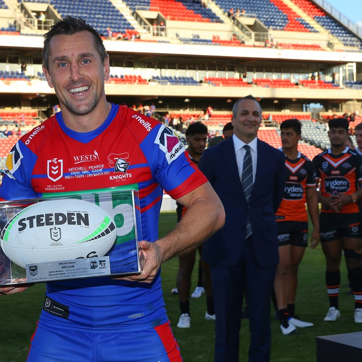 Pearce philosophical after loss to Wests Tigers in 300th game